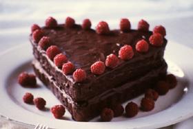 Šokoladinis pyragas, širdis, Valentinas