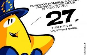 Europiukas skaičiuoja, kiek yra EK narių