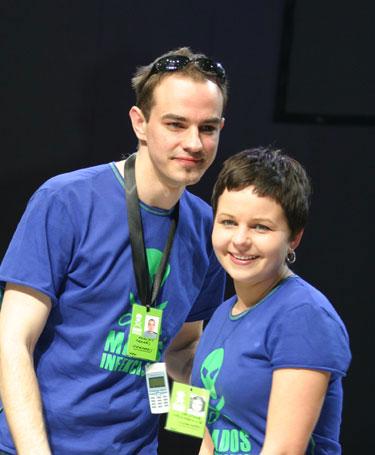 Drabužių dizaineriai K.Kruopienytė ir E.Sidaras