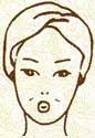 Pratimas apvalainai veido formai išryškinti
