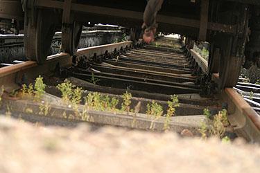 Bėgiai, traukinys, geležinkelis