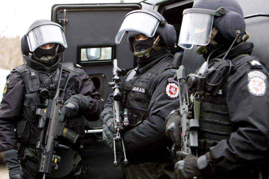 Спецназ Литовской полиции ARAS vs страйкболисты.