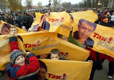 Rinkimų nuotaikos Ukrainoje
