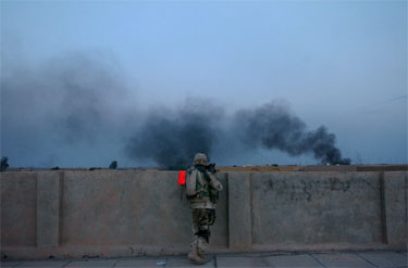 JAV pajėgos puolia Faludžą, JAV jūrų pėstininkai, JAV kariuomenė