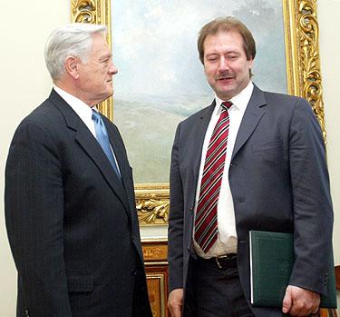 Valdas Adamkus ir Viktoras Uspaskichas