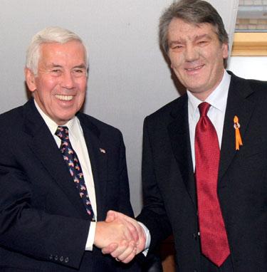 V.Juščenka ir JAV senatorius R.Lugaras