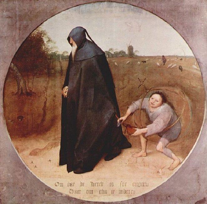 "Pieterio Bruegelio ""Mizantropas"" (1568)"