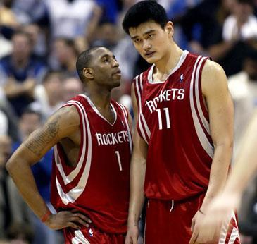 "Tracy McGrady ir Yao Mingas (""Rockets"")"