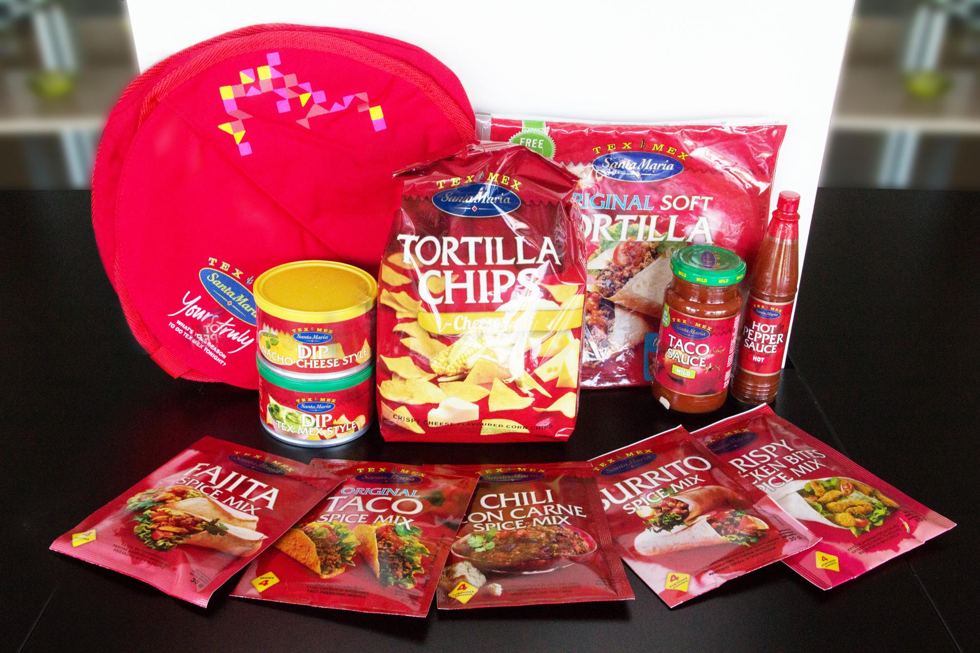Santa Maria TEX MEX produktų rinkinys