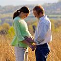 Nėščia moteris su vyru
