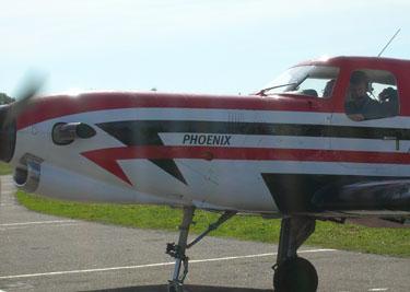 Rolandas Paksas lėktuve