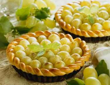 Desertas, pyragėliai su vynuogėmis