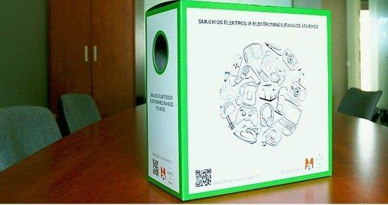 Elektronikos atliekų dėžės