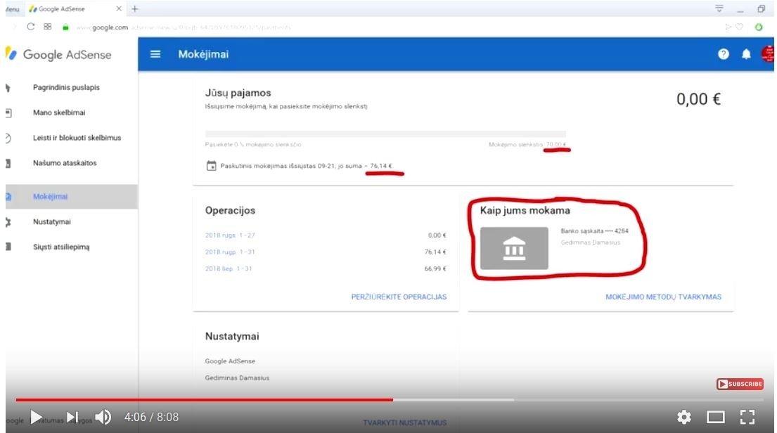 kaip uždirbti iš youtube