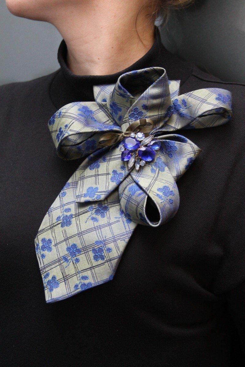 Брошь из галстука своими руками