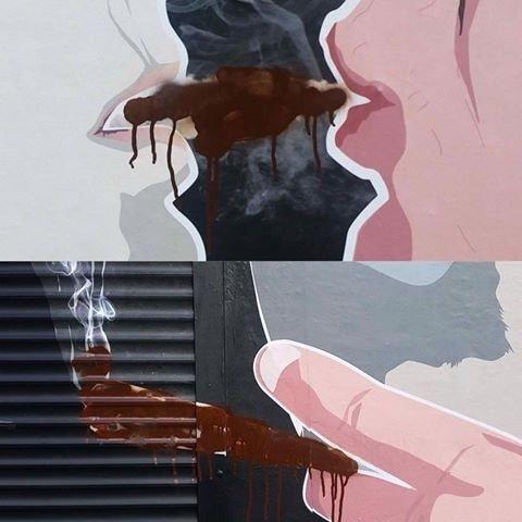 Keulė rūkė grafitis