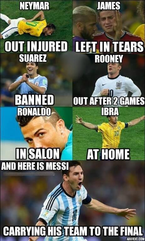 Lionelio Messio varžovų memas