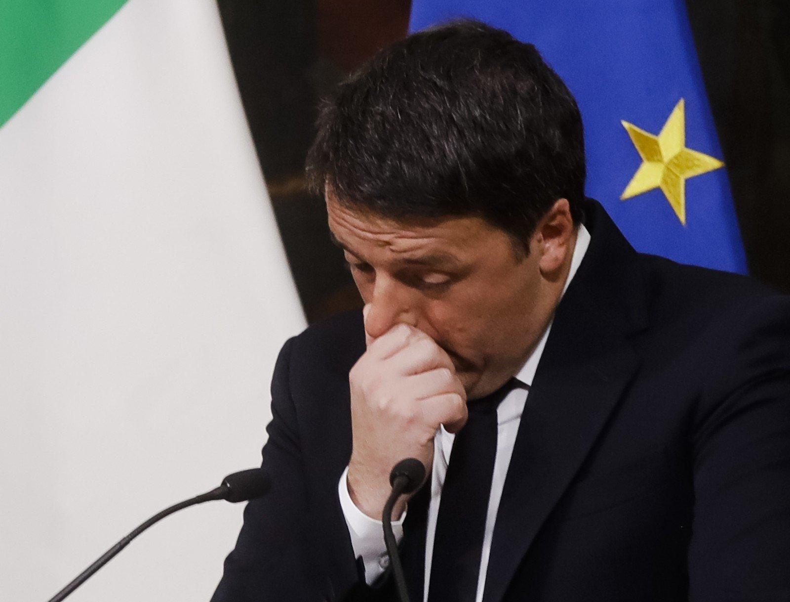 Премьер Италии Маттео Ренци объявил о собственной отставке— Поражение
