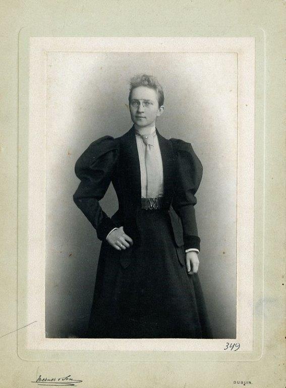 Marija Tiškevičiūtė viešnagės Airijoje metu. XIX a. pabaiga, Dublinas.