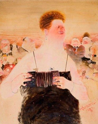 Raimundas SLIŽYS. Pati sau dainuojanti moteris. 1979–1980. Drobė, aliejus; 100 x 80. Iš MO muziejaus kolekcijos