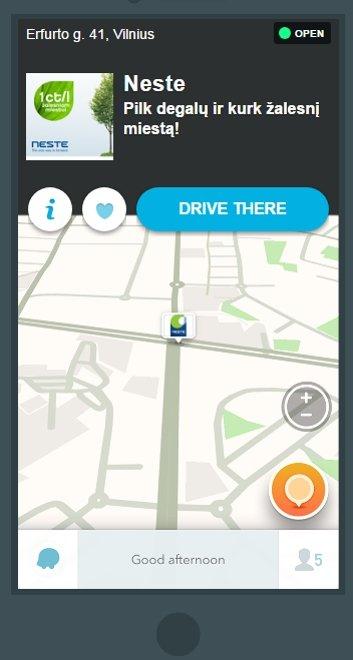"""Išmaniojoje navigacijoje """"Waze"""" – pirmoji lietuviška reklama"""