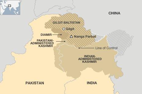 Pakistano Himalajų dalis, kurioje alpinistai kopė į Nanga Parbat