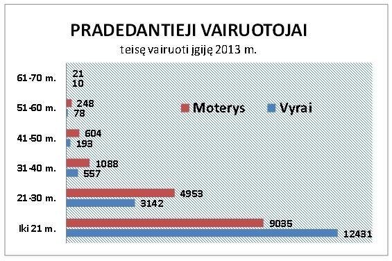Pradedantieji vairuotojai 2013 m.