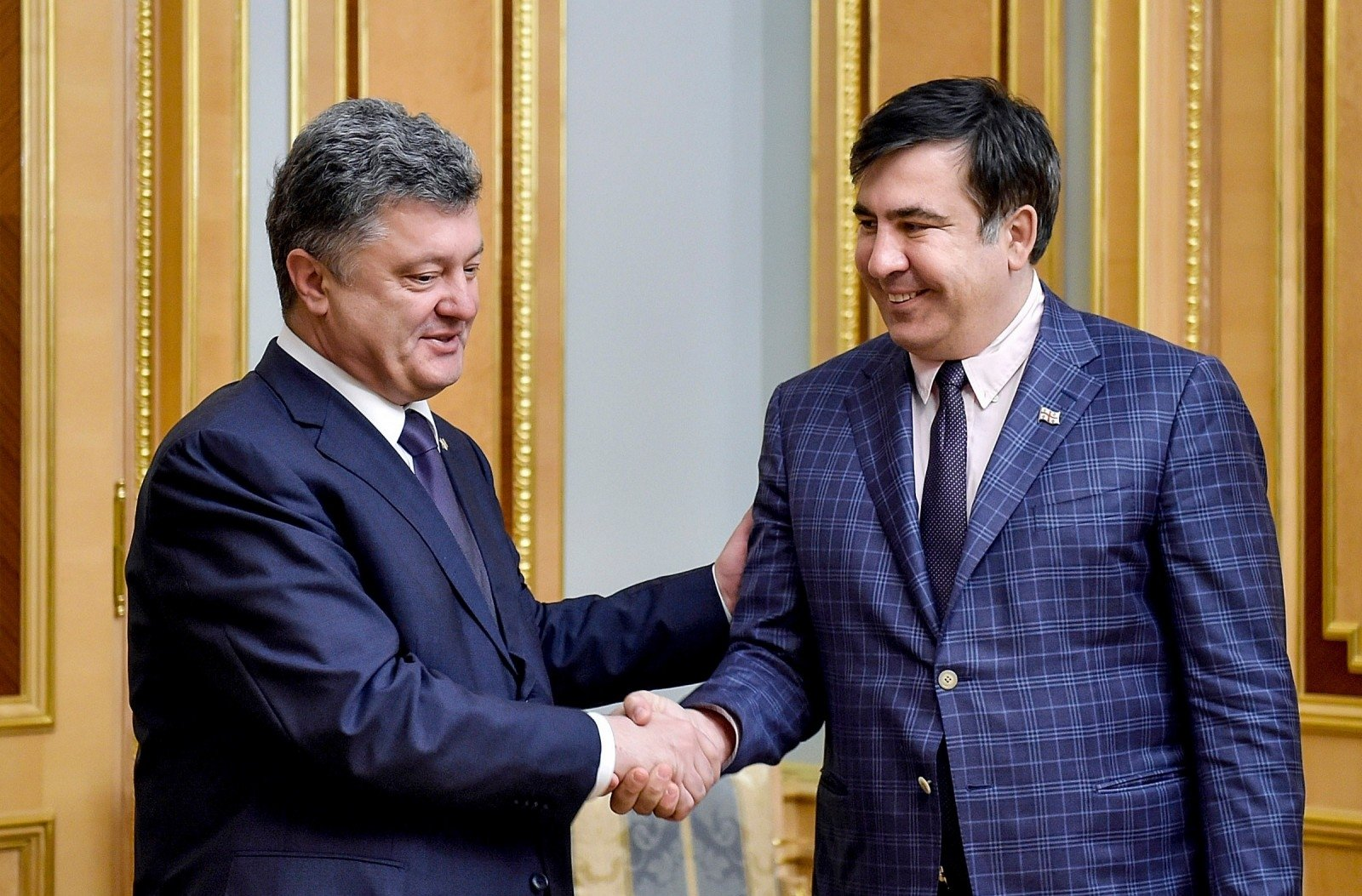 Saakashvili's hands covered in blood - Ukraine's president in