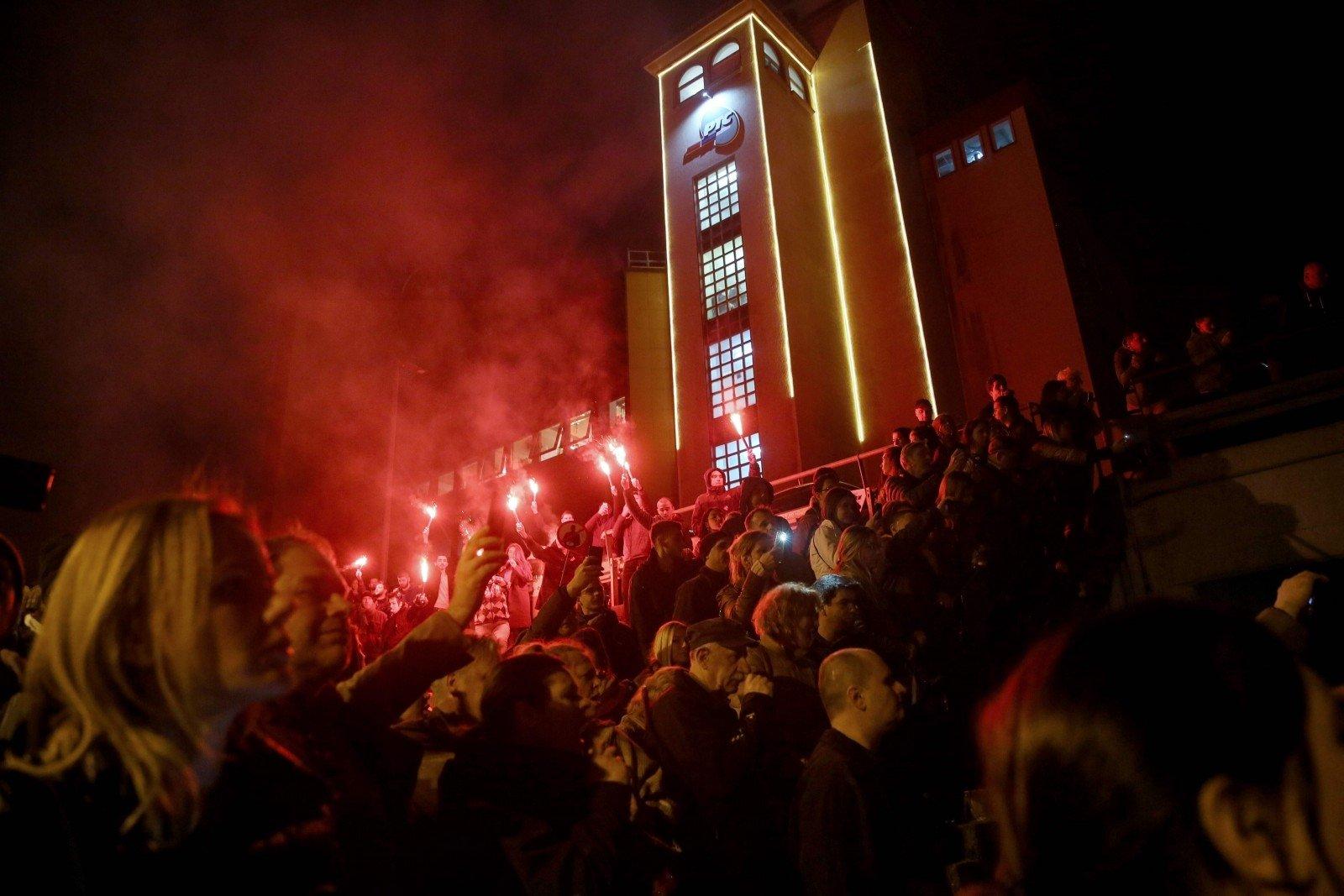 ВСербии впроцессе протестов захвачено строение гостелевидения