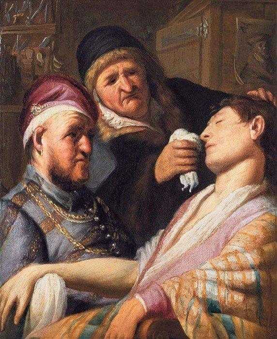 """Rembrandto darbas """"Apalpęs pacientas"""""""