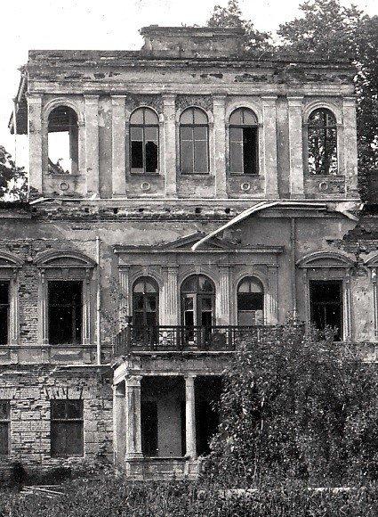 Oginskių rezidencijos rūmų centrinės dalies vaizdas 1924 m.