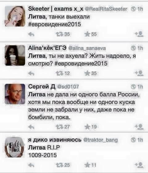 Rusų reakcija į lietuvių balsavimą