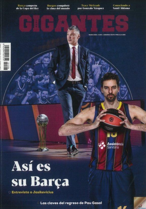 """Šarūnas Jasikevičius ant """"Gigantes del Basket"""" žurnalo viršelio"""