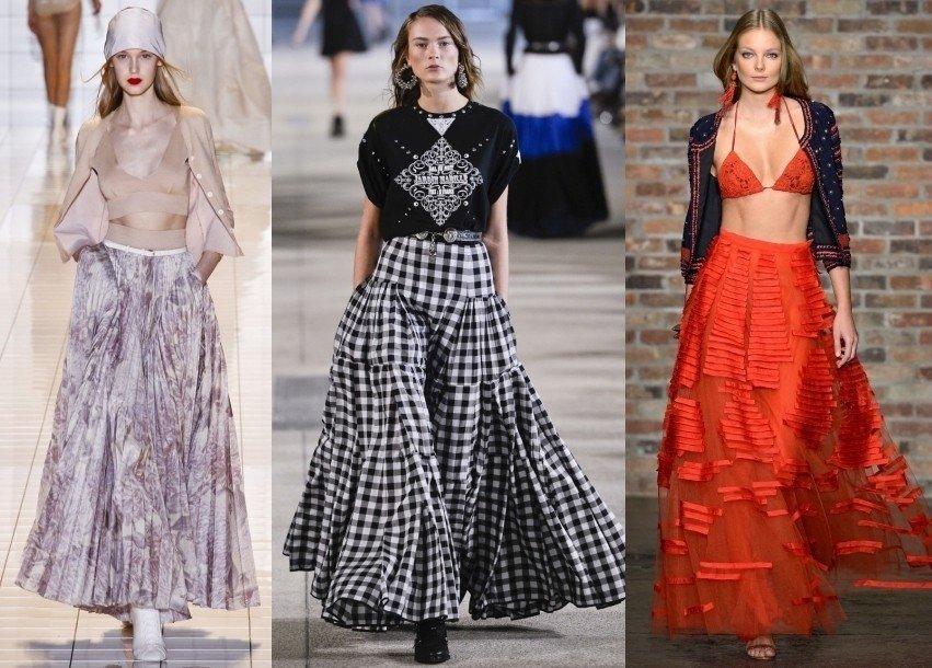 Длинные юбки фото мода