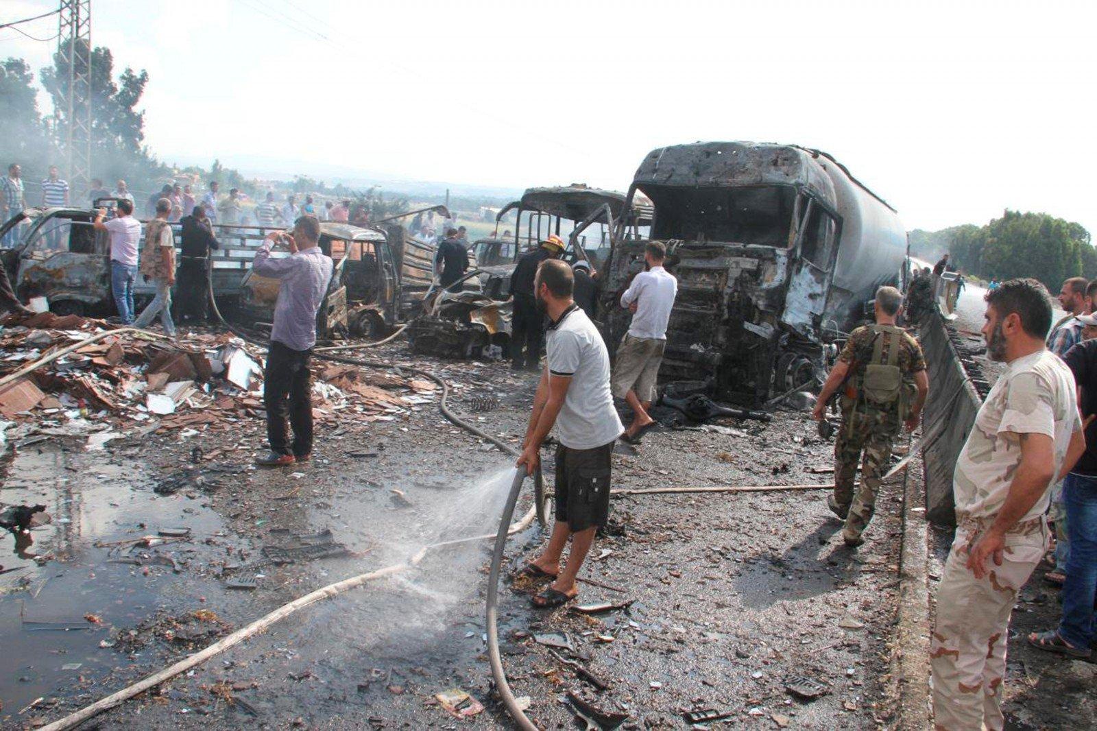 В итоге авиаудараРФ вСирии погибли 25 человек