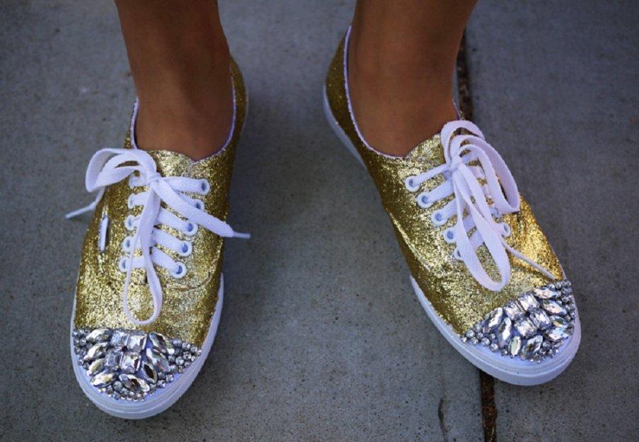 Как украсить своими руками обувь фото