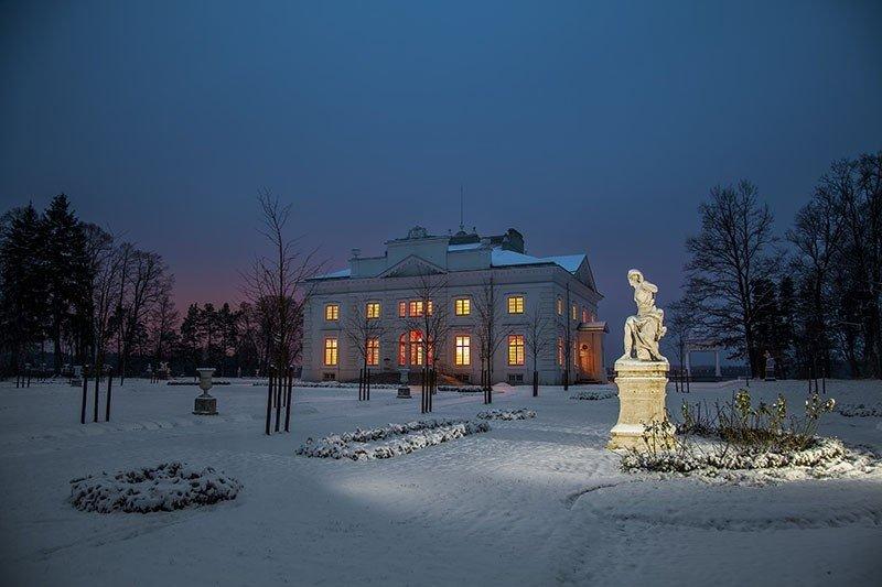 Užutrakio dvaras žiemą