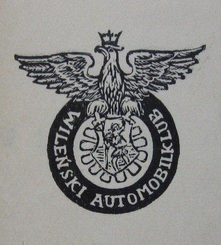 Vilniaus automobilių klubo emblema. 1930m. LCVA