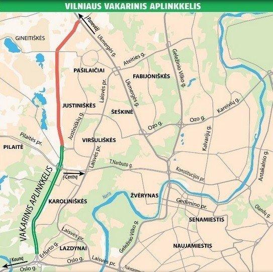 Vilniaus vakarinis aplinkkelis atidarytas: vardija silpnąsias vietas