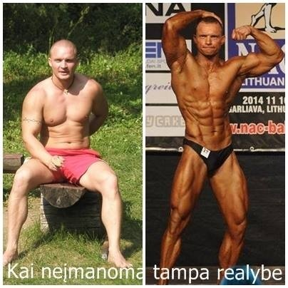 Treneris, pas kurį atėjus kilogramai tiesiog tirpsta, įkvepia savo pavyzdžiu