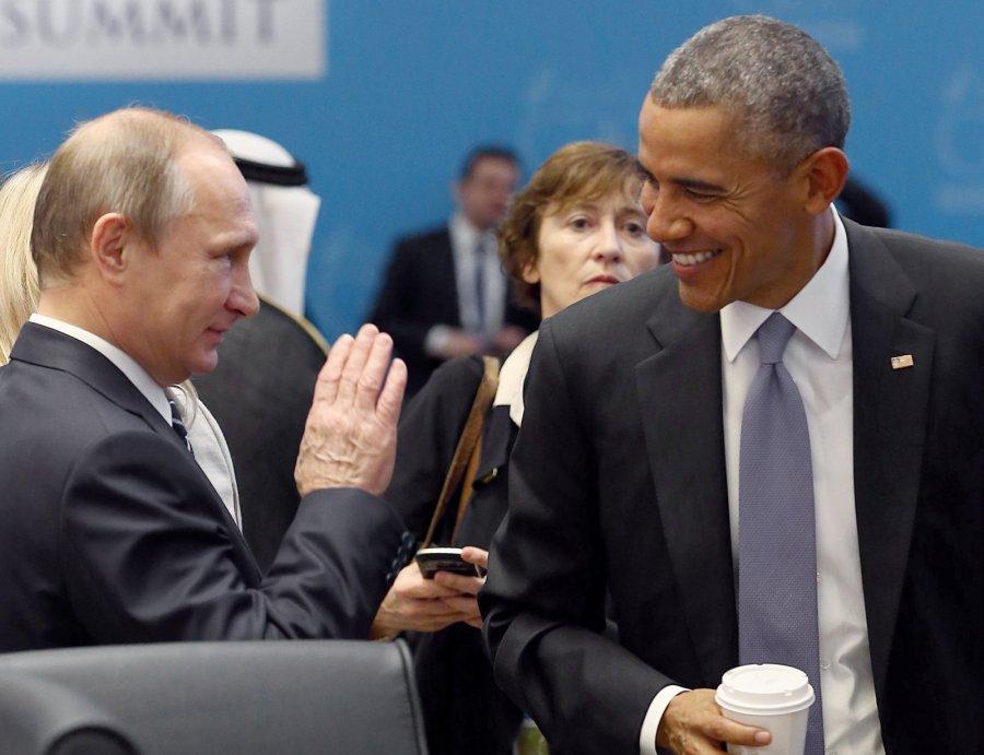 Песков сказал, как Путин поздравил Барака Обаму сюбилеем
