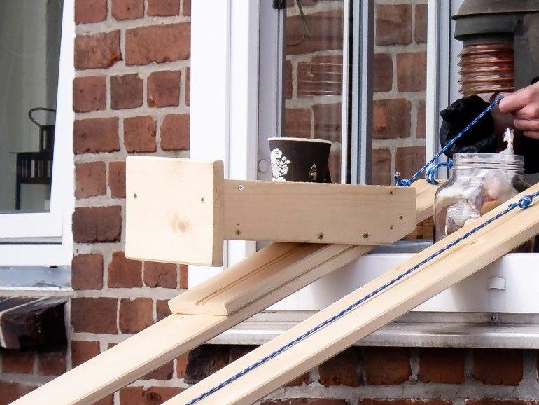Vokietijos kavinės rankų darbo čiuožykla