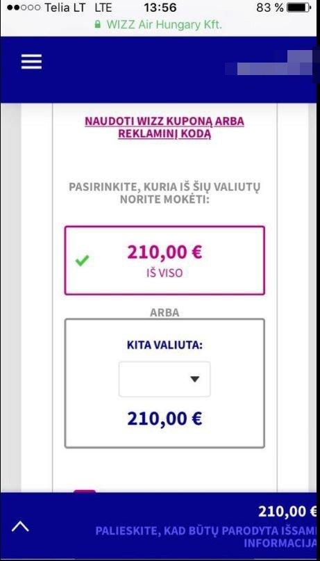 """""""Wizz Air"""" užsakymas"""